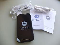 Moto E contenu