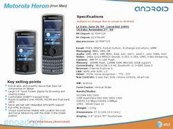 Motorola Heron fiche