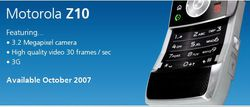 Motorola z10 publicit