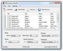 MP3 Quality Modifier screen1