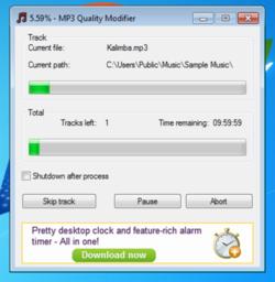 MP3 Quality Modifier screen2