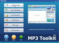 MP3 Toolkit screen1