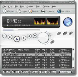 MP3 WAV Studio screen