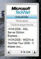 Gadget MS TechNet RSS