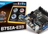 MSI B75IA-E33 : carte mère Mini-ITX certifiée Windows 8