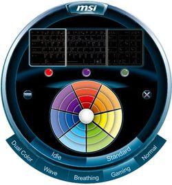 MSI GX780 rétro-éclairage clavier