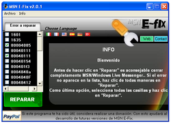 MSN E-Fix screen1