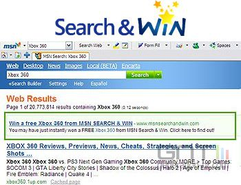 Msn search and win