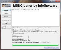 MSNCleaner screen1.
