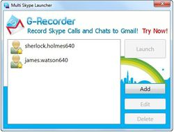Multi Skype Launcher screen1