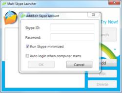 Multi Skype Launcher screen2