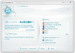 musicjacker pour MySpace screen1