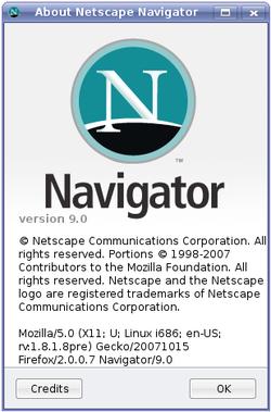 Netscape navigator 9 0