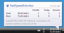 NetSpeedMonitor screen1