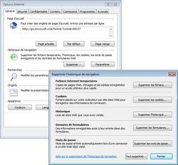 nettoyage IE7