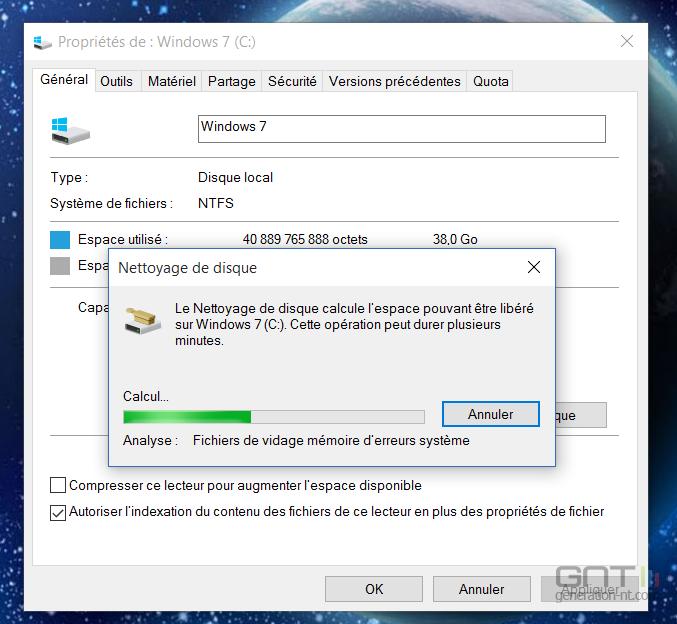 comment nettoyer installer Windows 10 à partir de vista