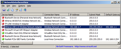 NetworkInterfacesView screen1