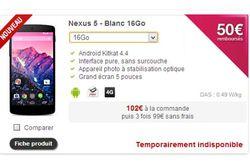 nexus 5 blanc indisponible free mobile