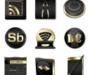 noir et or : un pack d'icônes dorés élégant et fashion !