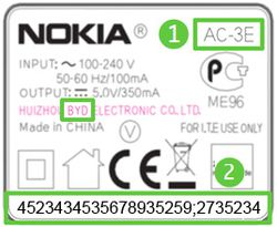 Nokia chargeur remplacement