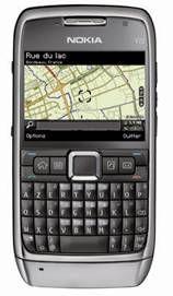 Nokia E71 Ovi Cartes