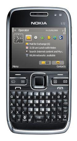 Nokia E72 face