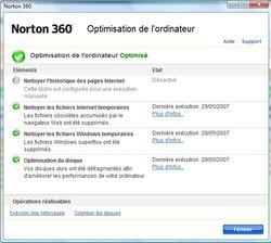 Norton 360 optimisation