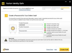 Norton Identity Safe screen2