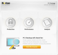 Norton PC Checkup screen 1