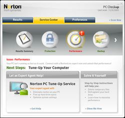 Norton PC Checkup screen 2