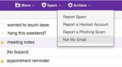 not my email