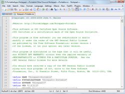 Notepad++ Portable screen 1