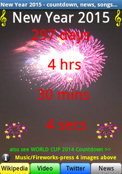 Nouvel An 2015 countdown