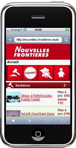 Nouvelles Frontieres mobile