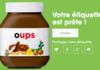Fuite des mots interdits sur les pots de Nutella