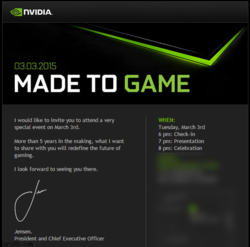 Nvidia invitation 3 mars 2015