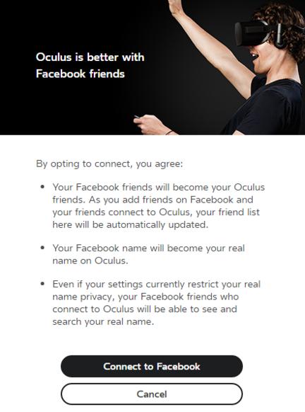 Oculus Rift 1.8 Facebook popup