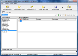 OE-Mail Recovery screen 2