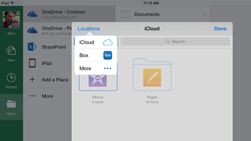 Office-iOS-integration-stockage-cloud