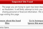 Opera 9.1 bêta (anti-phishing)