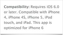 Optimisé pour iPhone 6