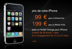 Orange iPhone