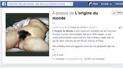 Origine du monde Facebook