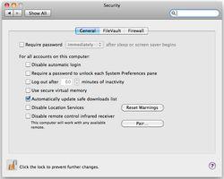 OSX-centre-sécurité