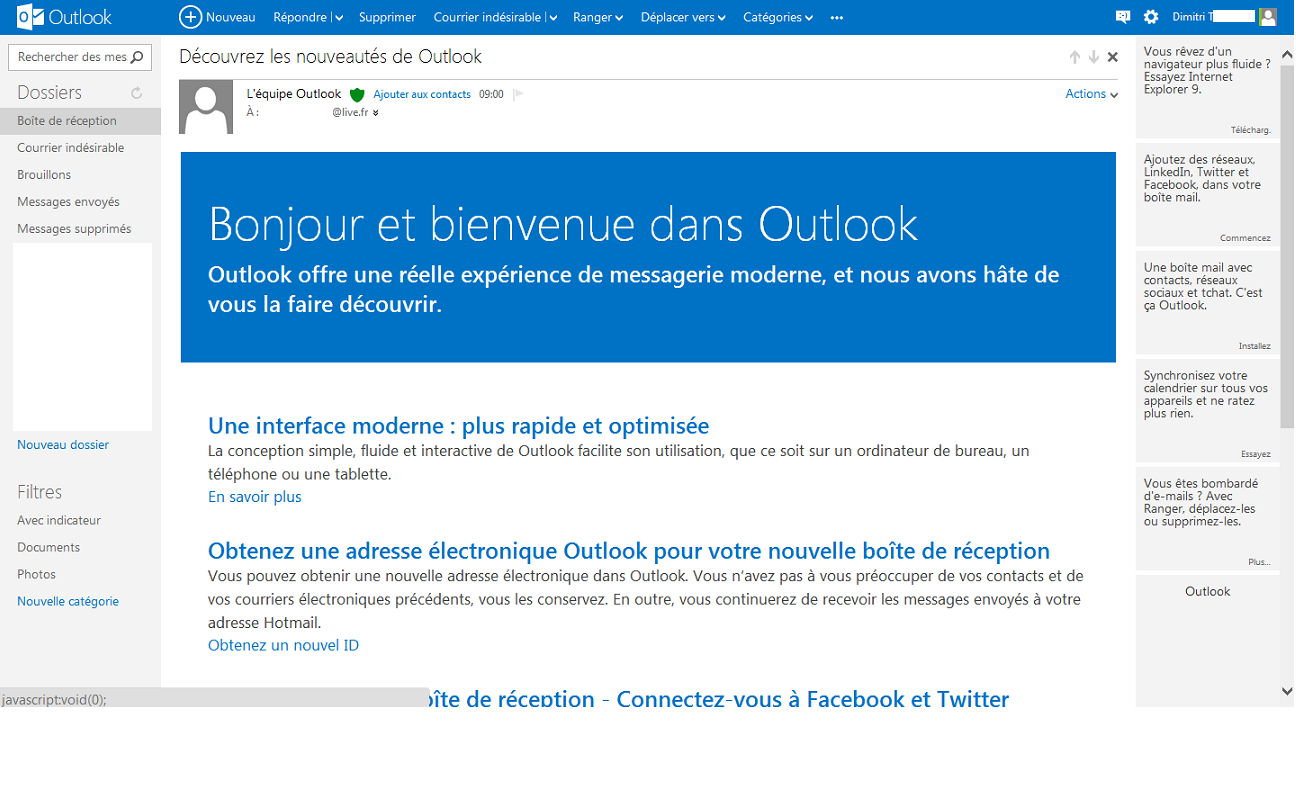 Outlook bêta 2