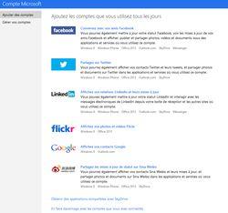Outlook réseaux sociaux