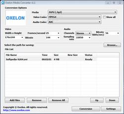 Oxelon Media Converter screen1