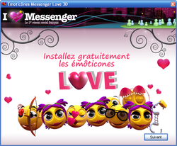 Pack Emôticônes Love 3D screen1