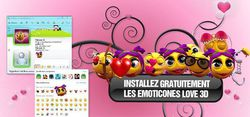 Pack Emôticônes Love 3D screen2