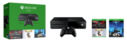 Pack Xbox One 1 To et 3 jeux